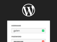 WordPress Login Concept