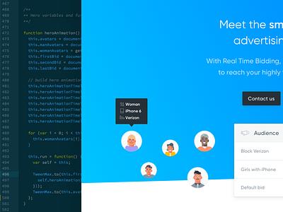 Smartb Hero Animation interface ux ui code debut development hero