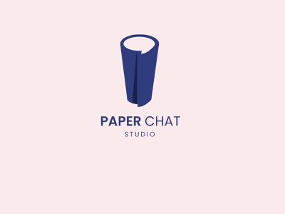 Paper Chat Studio ui vector illustration brand identity graphic design branding minimalist adobe photoshop logo design