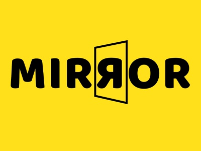 Mirror ux vector ui illustration minimalist graphic design branding adobe photoshop logo design