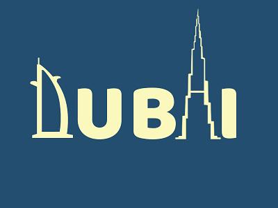 DUBAI flat web minimal 3d business cards ill app brand identity typography icon ux vector ui illustration minimalist graphic design branding adobe photoshop logo design