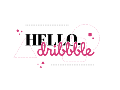 Hello Dribbble! hellodribbble vector illustration