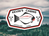 Kevin's Cabins sticker