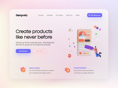 Online Design Site Designally -UI/UX Web Design layout landing page design landingpage branding design desktop design sketch online course designing designer online marketing uxui website website design webdesign figma uxdesign uidesign uiux ui