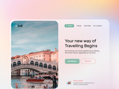 Online Travel Site Trail  -UI/UX Web Design desktop app landing page design landingpage ui design travel agency travel guide booking travel app travelling travel website web design website design webdesign logo sketch uiux ui figma design