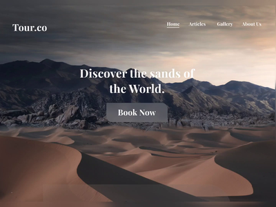 UI Animation Travel Website- Parallax Effect typography website animation desert illustration tour app landing page landingpage uxdesign parallax effect parallax scrolling ui animation uianimation webdesign travel website travel app travel agency illustration website design uiux ui