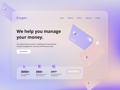 Online Banking(CRYPTO) Site -UI/UX Web Design website uiux banking app banking creditcard typogaphy logotype modernism minimal cryptocurrency crypto wallet bank card money transfer money management landing page design landingpage webdesign ui uxdesign website design