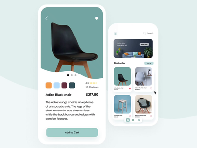 UI Animation for Furniture App - Mobile Design freelance designer furniture website ui design online shopping online shop uxdesign webdesign typogaphy figma user interface uidesign freelance interaction design animations furniture store furniture app mobile app mobile ui uianimation freelancer