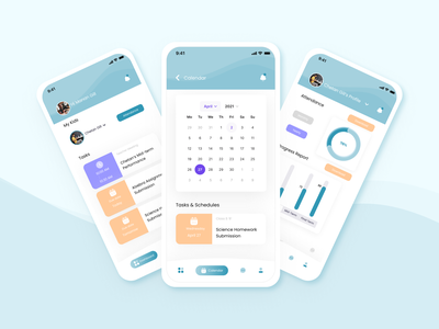 E-care Mobile App UI/UX Design freelancer mockup mobile screens mobile app design navigation typogaphy student app student work meeting app assignment pastel color palette mobile ui online teaching school app education app mobile app uxdesign uiux figma