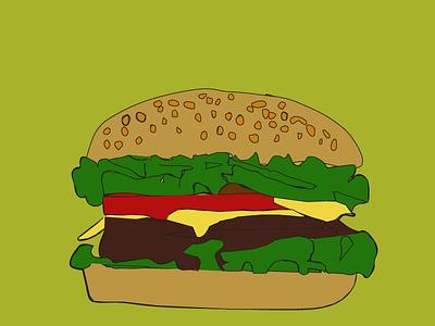 hamburger illustration design vector