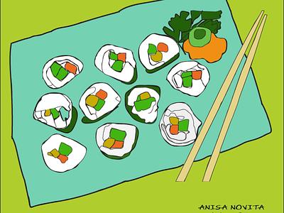 sushi design illustration vector
