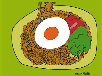 Indomie cuy illustration design vector