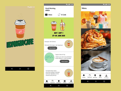 Kopingin Cafe design web ux ui