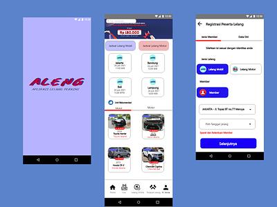 Aplikasi Lelang mobile phone design ui ux