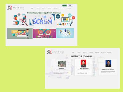 Project website AnakRimba webdesign design ux ui