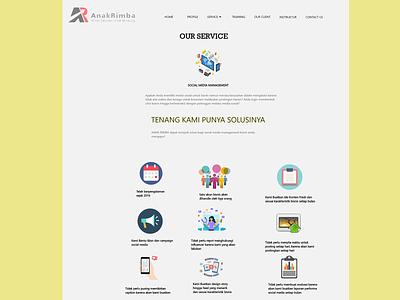 Project Web AnakRimba ux ui design