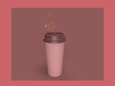 Coffee Cup 3D 3dart coffecup blender 3dblender graphic design 3d illustration design