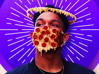 Divine Delivery popart cheese covid19 coronavirus pizza
