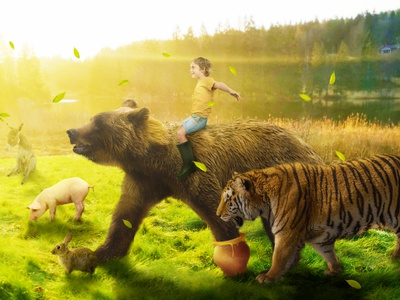 Winnie The Pooh popart cartoon kids show tigger christopher robin winnie the pooh