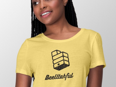 BeeUtahful Logo shirt design beehive hive bee utah logo shirt
