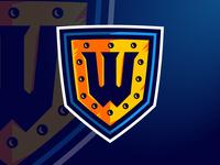 Warriors Middle School Secondary Logo
