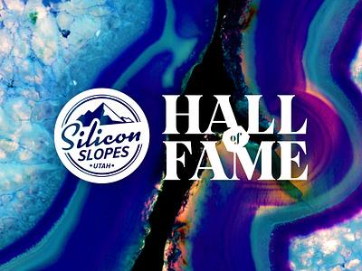 Silicon Slopes Hall of Fame Brand event branding luxury brand geode rock logo logo design logo brand design brand