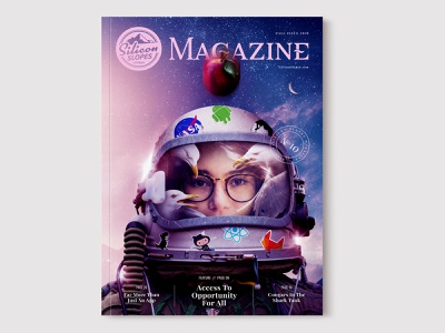 Silicon Slopes Magazine Cover Design - Fall 2019 astronaut science seagull google android mac apple nasa space utah siliconslopes magazine design magazine cover
