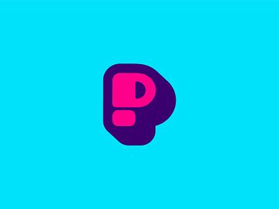 Pillow Cube Icon smile logo illustration blue pink purple icon logo design brand design pillow brand logo