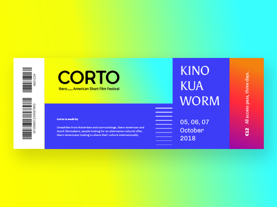 Ticket for CORTO / Ibero-American Short Flim