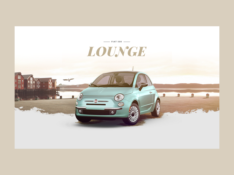 Visual for Fiat 500 visual design fiat car retouch