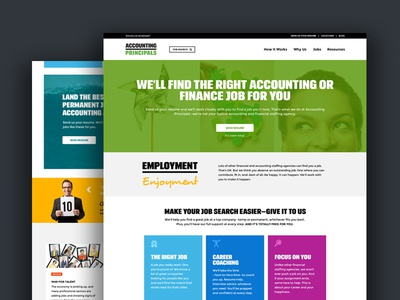 Accounting Principals Website Redesign