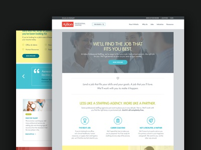 Ajilon Website Redesign