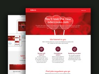 Adecco Rebrand Website Landing Page