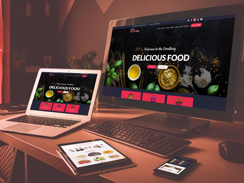 Food King - Restaurant, Food & Cafe HTML Template sushi restaurant responsive reservation pub portfolio menu food coffee cafeteria cafe burger bistro bar bakery