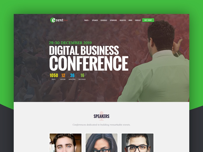 Event Point - Event, Conference & Meetup WordPress Theme workshop webinar tickets summit speakers seminar schedule meetup meeting expo exhibition event convention congresses conference