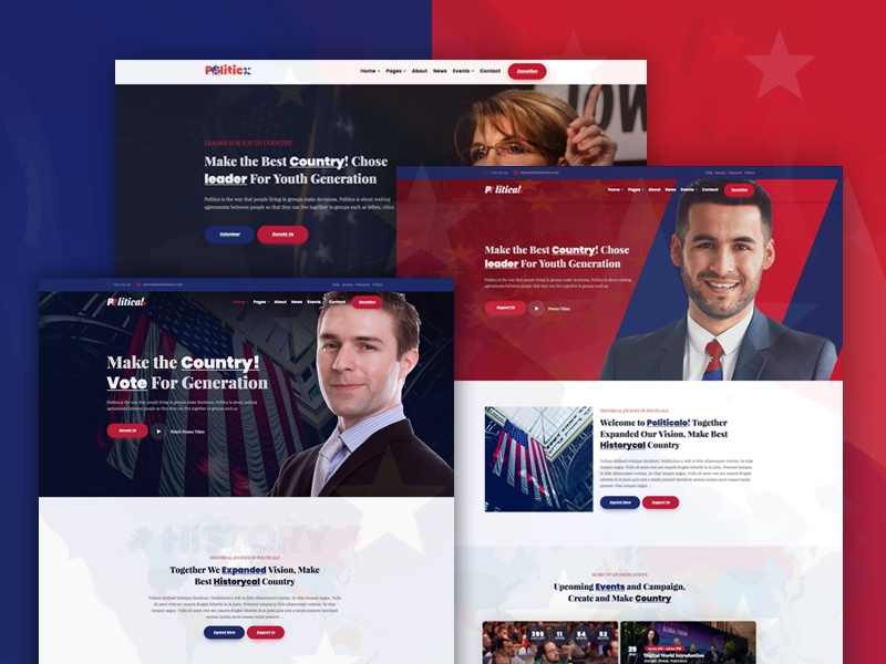 Politicalo - Political and Candidate WordPress Theme election political campaign political politics