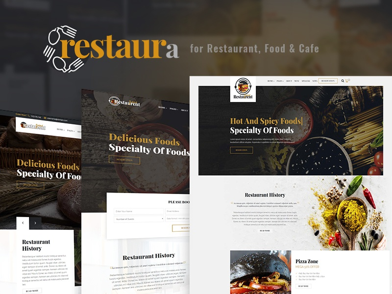 Restaura for Restaurant, Food & Cafe wine seafood restaurant pizza mexican food italian food coffee chef catering cafe burger bbq bar bakery asian food