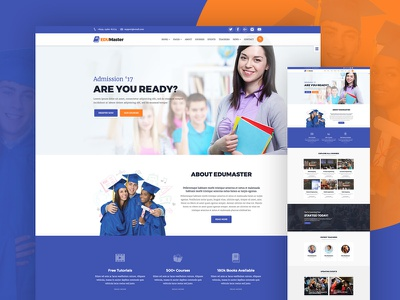 EduMaster - Education HTML Template school responsive non-profit jquery google webfonts google maps flat education crisp bootstrap academic