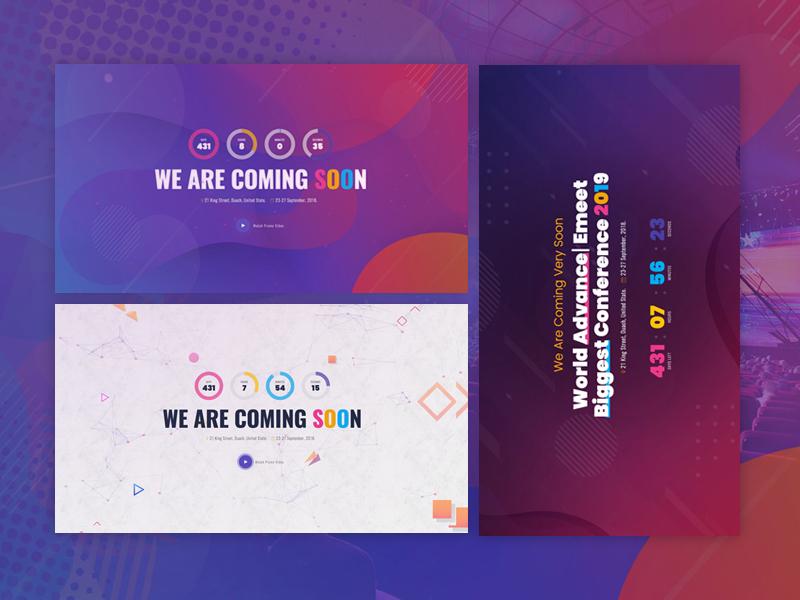ComingSoon - Powered By Emeet event website meetup exhibition event emeet