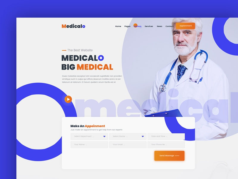 Medical Hero Image clinic hospital doctor medical