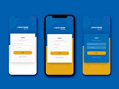 Login - Brack Bank CMS bank app apps design login