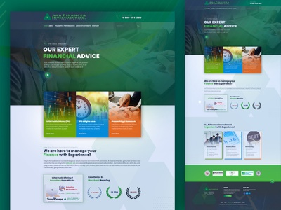 Finance and Investment Company Site Design investment finance