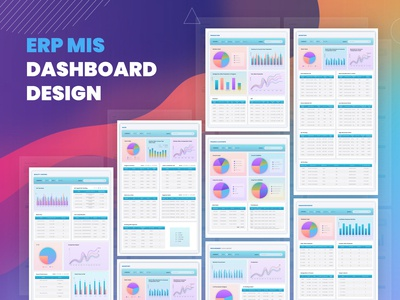 Pharmaceutical ERP MIS Dashboard  Design