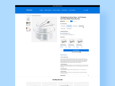 Dinner Plates Product page product page