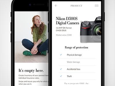 Mobile micro–insurance app app insurance ios