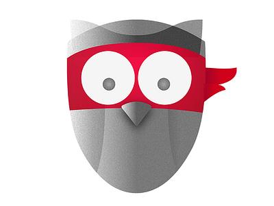 The Rebel Owl definitely not a racoon mask rebel education logo owl