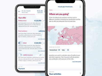 Another year, another insurance app ux ui watercolour insurance app