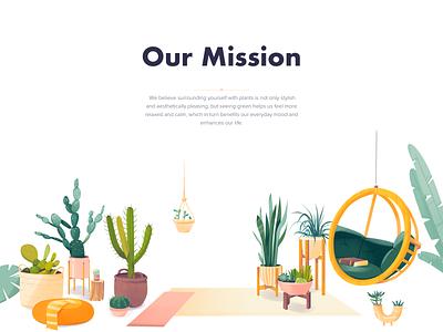 Urban Jungle - Landing Page animation landing minimal design illustration website web ux ui colors