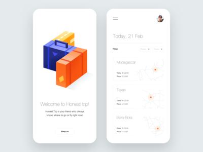 Mobile App - Honest trip