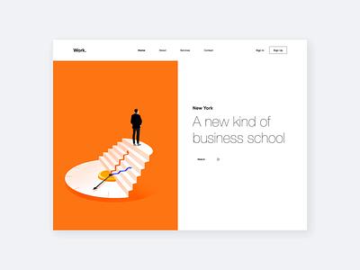 Web App - Work. animation website landing illustration web minimal design ux ui colors